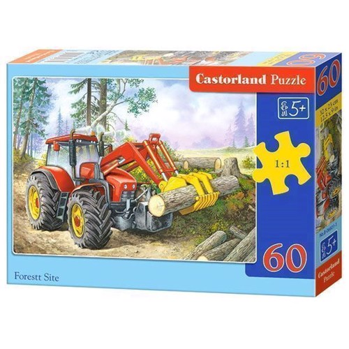 Image of   Puzzle Tractor in the Forest, 60pcs.