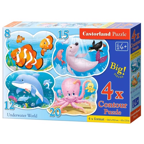 Image of   Puzzle Underwater World, 4in1