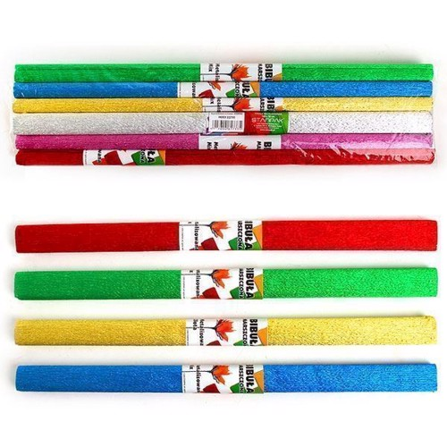 Image of   Crepepapir metallik, 6 farver