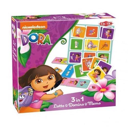 Image of Dora udforskeren, Lotto, Domino & Memo, 3i1 (6416739529769)