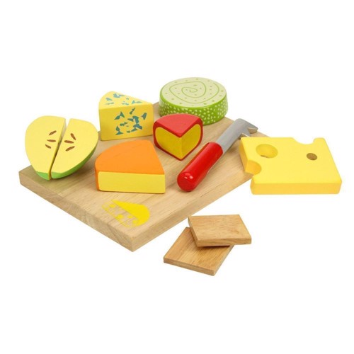 Image of   Træ legetøj, ostebræt, 10dlg.