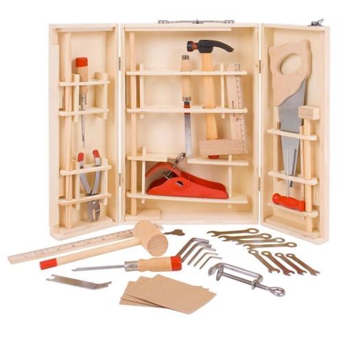 Image of   Værkstøjskasse med værktøj, 28 dele