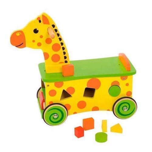 Image of   Træ gåbil, gåvogn, giraf