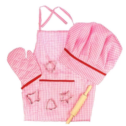 Image of Den lille kok, bagesæt, pink (691621246092)
