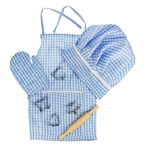Image of Den lille kok, bagesæt blå (691621246108)