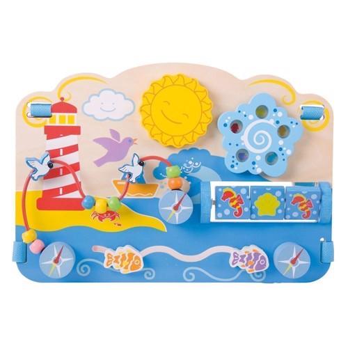 Image of   Træ legetøj, aktivitetsbræt, hav tema