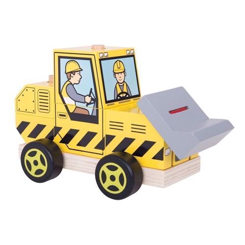 Image of   Træ legetøj, bulldozer