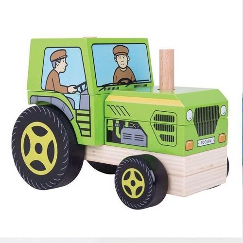 Image of Træ legetøj traktor (691621531259)