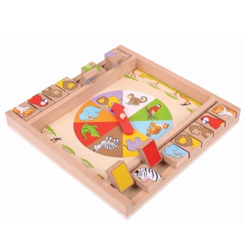 Image of Træ legetøj, træ vendespil med dyr (691621536988)