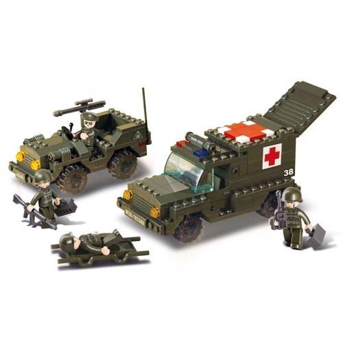 Image of Sluban militær Ambulance og bil, Slubanklodser (6938242938512)