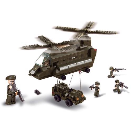 Image of Sluban hellikopter og jeep, Sluban klodser (6938242938550)