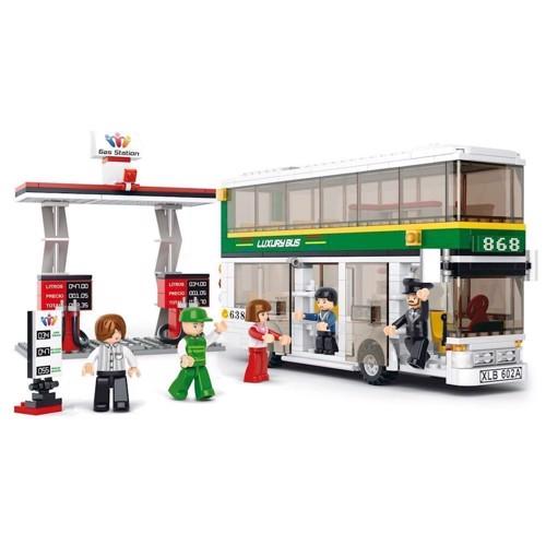 Image of Sluban luksusbus med tankstation, Sluban klodser (6938242951955)