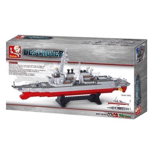 Image of Sluban Destroyer stort krigsskib, Sluban klodser (6938242952600)