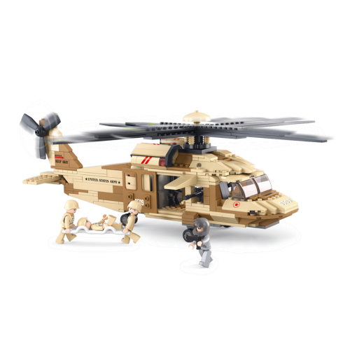 Image of Sluban Black Hawk Helikopter, 439 sluban klodser (6938242952792)