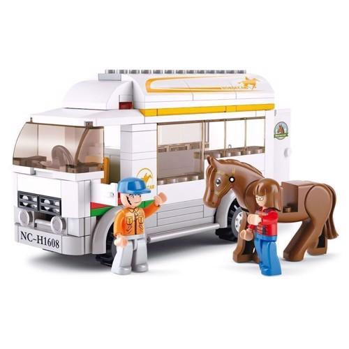Image of Sluban heste transport trailer, Sluban klodser (6938242953195)