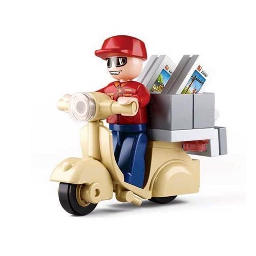 Sluban postbud på scooter, Sluban klodser