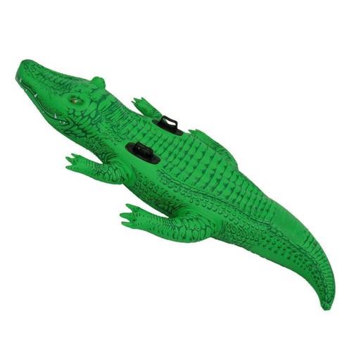 Image of   Badedyr, Oppustelig krokodille, grøn