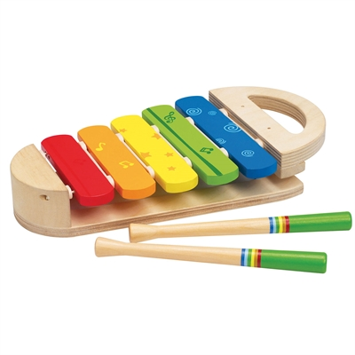 Hape E0302 børne Xylophone regnbufarvet