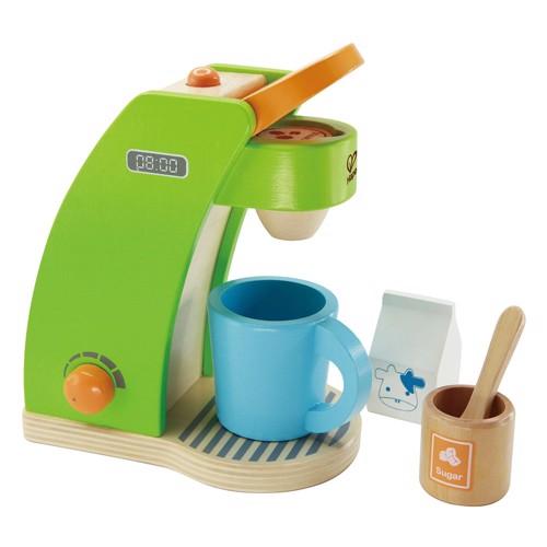 Image of   Hape E3106 legetøjs kaffemaskine i træ med tilbehør