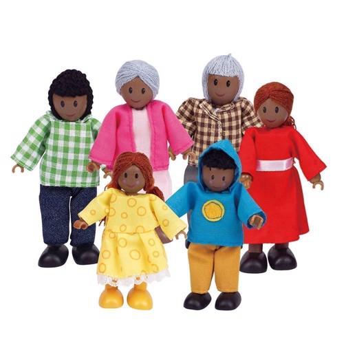 Image of   Hape dukkehus, dukker, afrikansk familie