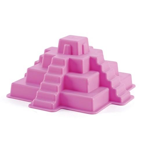 Image of   Hape E4021 sandform Mayan pyramide rød 18x18cm