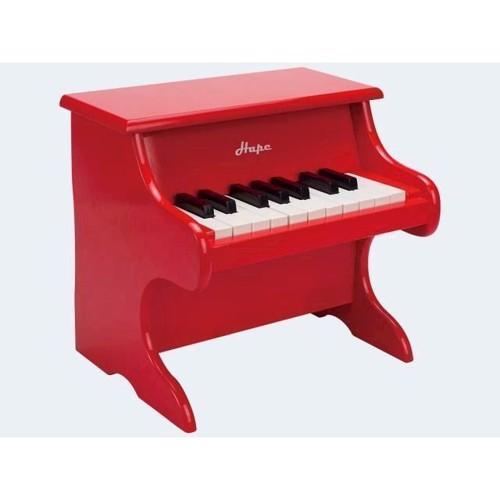 Image of   Hape E0318 børne klaver med 18 tangenter, rød