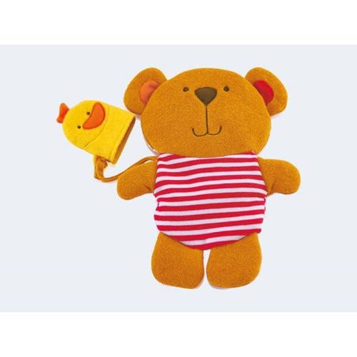 Image of   Hape E0200 bamse vaskeklud med and