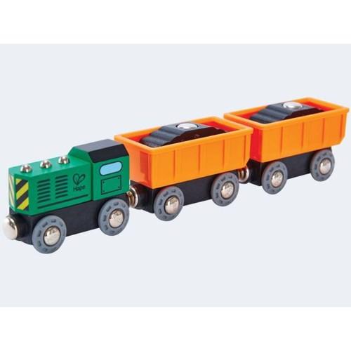 Image of   Hape E3718 Diesel fragt tog til togbane