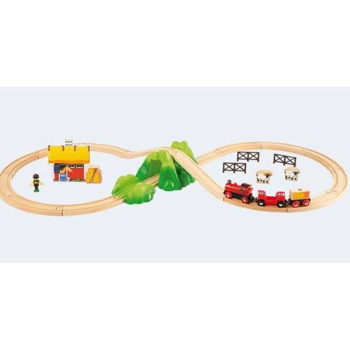 Image of   BRIO bondegårds togbane med batteridrevet tog