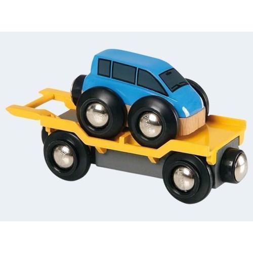 Image of BRIO biltransporter med rampe (7312350335774)