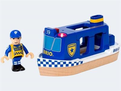 Image of   BRIO Politibåd med lys & lyd