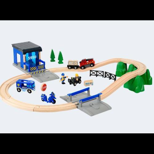 Image of   BRIO DeLuxe politi togbane sæt