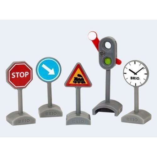 Image of   BRIO trafikskilte, 5 dele