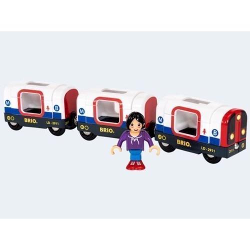 Image of BRIO Metrotog med lys og lyd
