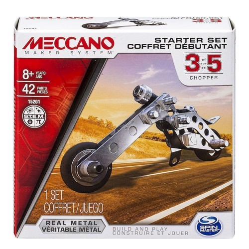 Image of Meccano byggesæt, starsæt motorcykel (778988138427)