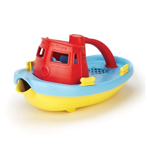 Image of Green Toys båd- Red / Blue