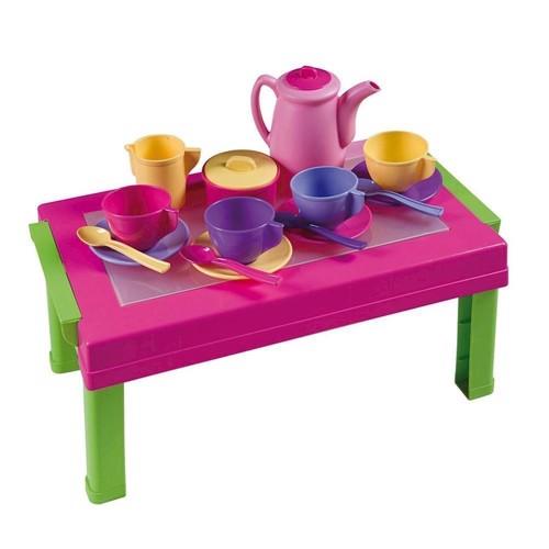 Image of Legetøj, legebord med service. (8000796029201)