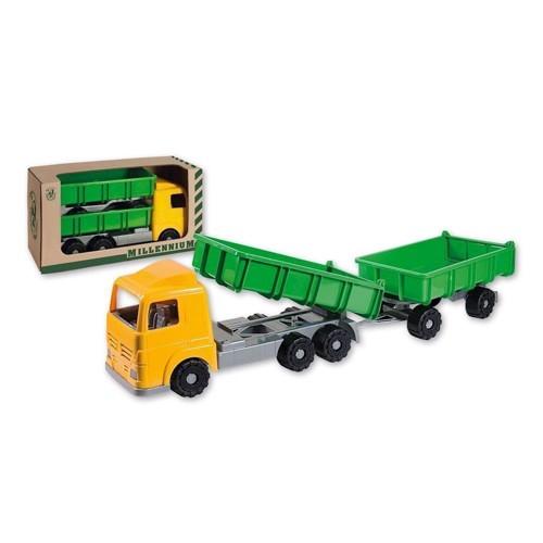 Image of   Stor legetøjs Lastbil med anhænger, 90 cm