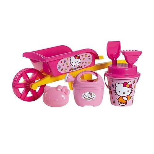 Image of   Hello Kitty, trillebør med sand/strand legetøj