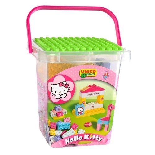 Image of Bygeklodser Unico,Hello Kitty spand med 104 dele (8000796886620)