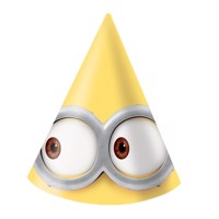 Minions Party hats, 6pcs.