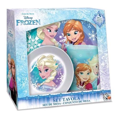 Image of   Disney, Frozen/Frost - Melamin Morgenmadssæt i 3 dele