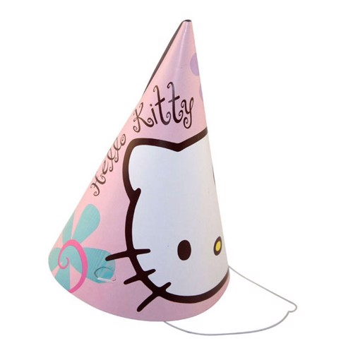Image of   Party hats Hello Kitty, 6pcs.