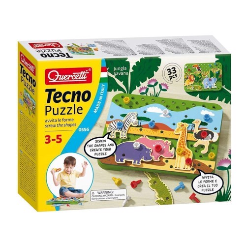 Image of   Quercetti Tecno Puzzle Jungle