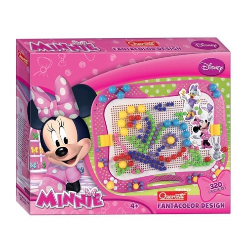 Image of   Quercetti Plug-in Mosaic Minnie Mouse, 320 pins