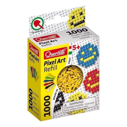 Quercetti Pixel kunst refill pakke med 1000 stk i gul