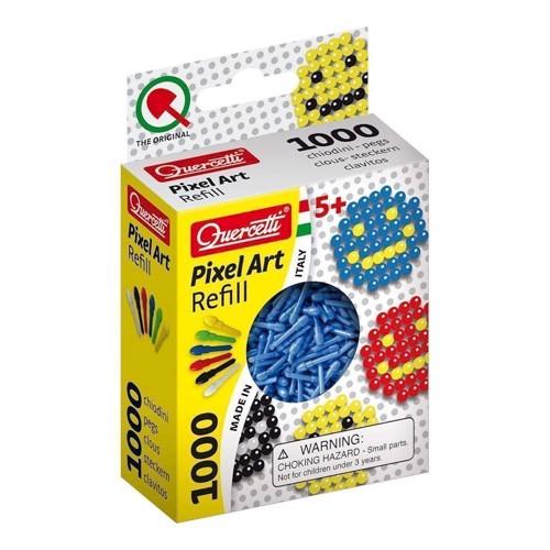 Image of Quercetti Pixel kunst refill pakke med 1000 stk i blå