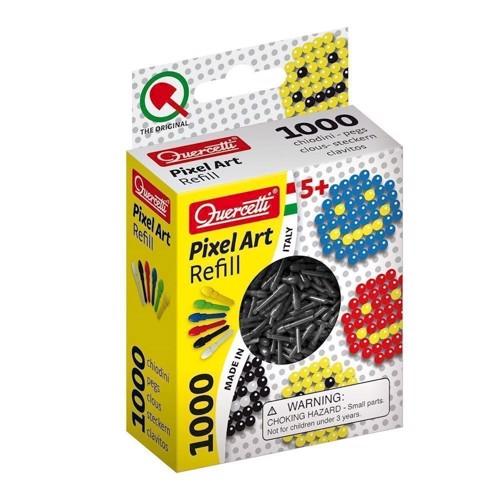 Quercetti Pixel kunst refill pakke med 1000 stk i sort