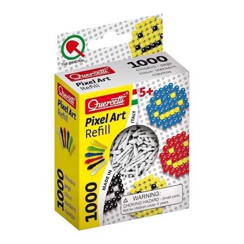Quercetti Pixel kunst refill pakke med 1000 stk i hvid