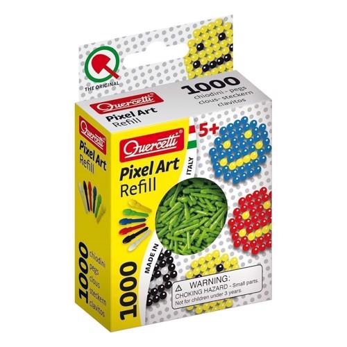 Quercetti Pixel kunst refill pakke med 1000 stk i grøn